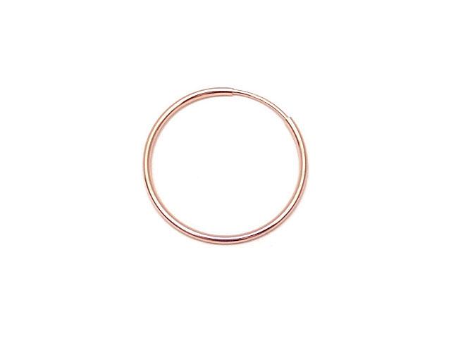 ビーズ天然石14KGF ピンクゴールドカラー フープピアス 24mm【1ペア販売 840円】とパワーストーン