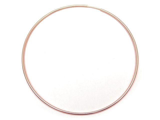 ビーズ天然石14KGF ピンクゴールドカラー フープピアス 65mm【1ペア販売 2,000円】とパワーストーン