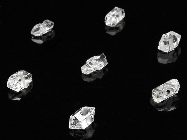 天然石【粒販売】ニューヨーク産 ハーキマーダイヤモンド 原石ビーズ 5〜7mm【5粒販売 900円】ビーズとパワーストーン
