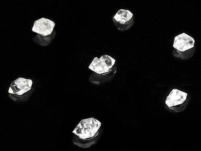 天然石【粒販売】ニューヨーク産 ハーキマーダイヤモンド 原石ビーズ 3〜5mm【10粒販売 720円】ビーズとパワーストーン