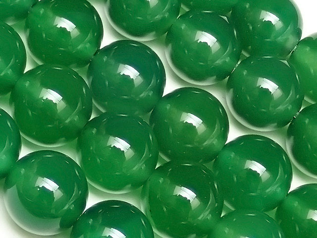 天然石【連販売】グリーンオニキス 丸玉 10mm【1連 800円】ビーズとパワーストーン