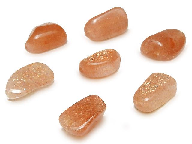 天然石【粒販売】サンストーン ナゲット 9〜12mm【8粒販売 520円】ビーズとパワーストーン