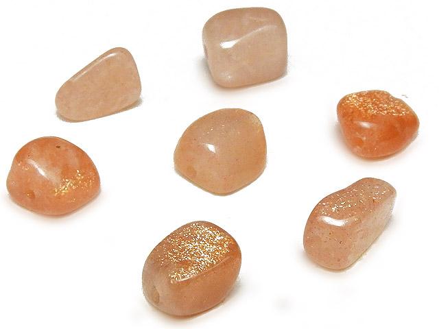 天然石【粒販売】サンストーン ナゲット 6〜10mm【10粒販売 510円】ビーズとパワーストーン
