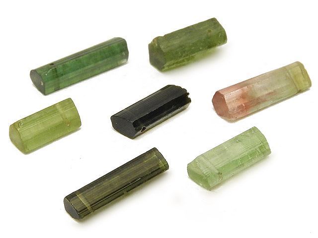 天然石【粒販売】マルチカラーグリーントルマリン チューブカット 10〜16mm【3粒販売 1,790円】ビーズとパワーストーン