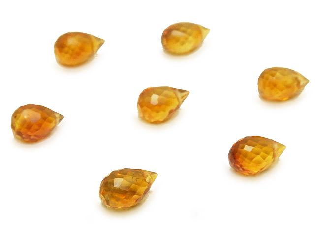 ビーズ天然石【粒販売】ブランデーシトリン ドロップカット 6〜7mm【5粒販売 540円】とパワーストーン