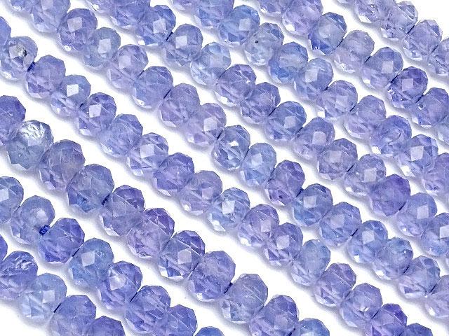 天然石【連販売】タンザナイト ボタンカット 3mm No.5【1連 3,800円】ビーズとパワーストーン