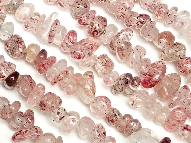 天然石【連販売】ピンクエピドート チップ 3〜9mm[ロング連]【1連 400円】ビーズとパワーストーン