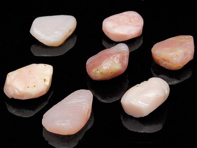 天然石【粒販売】ピンクオパール ラフロックナゲット 11〜14mm[クレオ穴]【6粒販売 480円】ビーズとパワーストーン