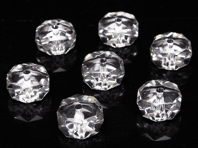 天然石【粒販売】天然水晶 クリスタルクォーツ ボタンカット 10×5mm[プレミアムカット]【5粒販売 450円】ビーズとパワーストーン