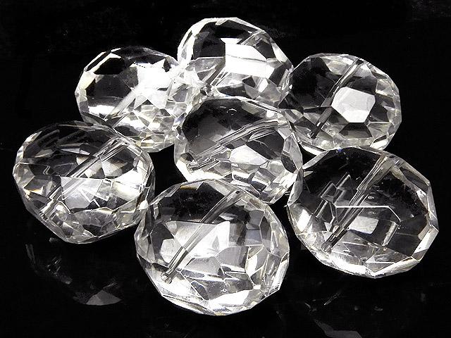 天然石【粒販売】天然水晶 クリスタルクォーツ ナゲットカット 17〜19mm[プレミアムカット]【2粒販売 480円】ビーズとパワーストーン