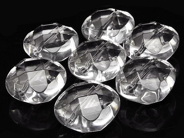 天然石【粒販売】天然水晶 クリスタルクォーツ スクエアカット 14mm【2粒販売 400円】ビーズとパワーストーン