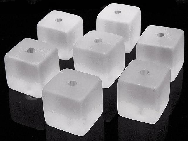 天然石【粒販売】フロストクォーツ キューブ 10mm【5粒販売 430円】ビーズとパワーストーン