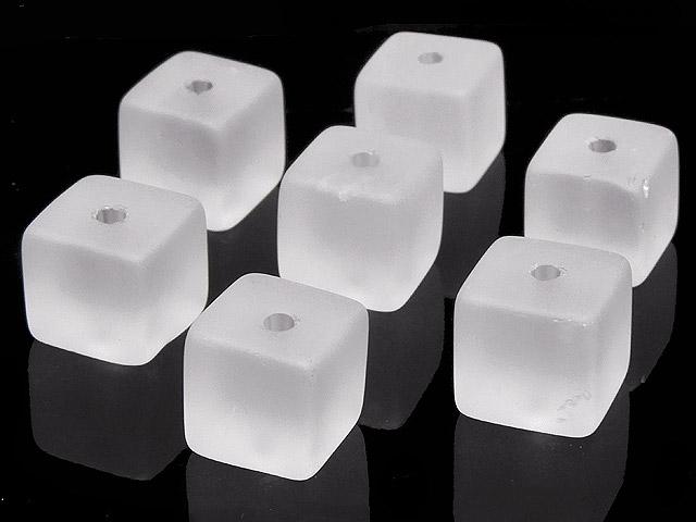 天然石【粒販売】フロストクォーツ キューブ 9mm【6粒販売 420円】ビーズとパワーストーン
