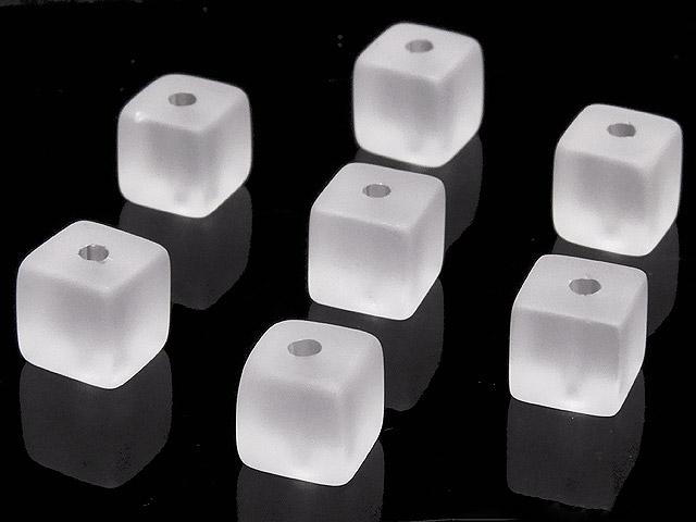 天然石【粒販売】フロストクォーツ キューブ 6mm【8粒販売 350円】ビーズとパワーストーン