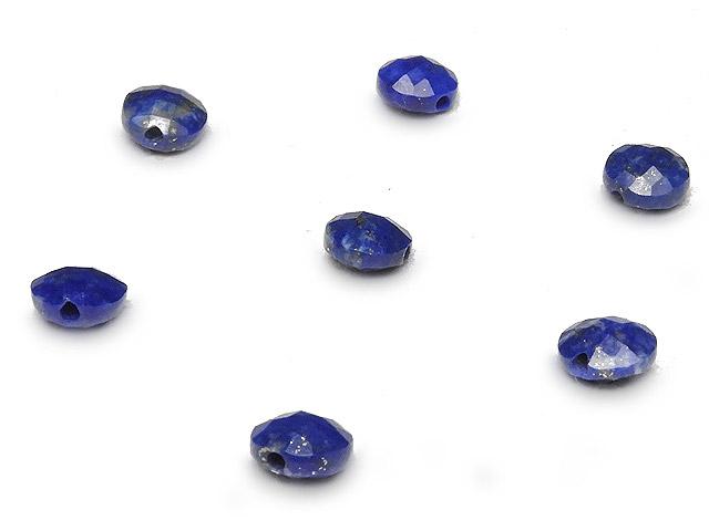 天然石【粒販売】ラピスラズリ コインカット 4×3mm[プレミアムカット]【15粒販売 470円】ビーズとパワーストーン