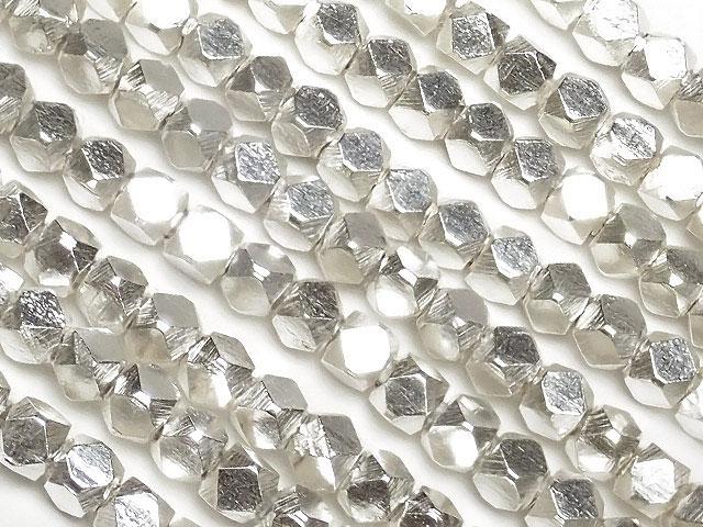 天然石【連販売】カレンシルバー キューブカット 3mm[ロング連]【1連 5,600円】ビーズとパワーストーン