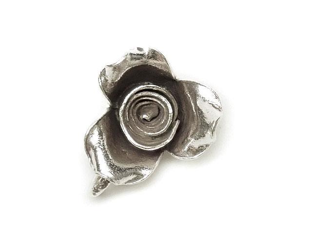 ビーズ天然石カレンシルバー チャーム 薔薇 13mm【1コ販売 500円】とパワーストーン