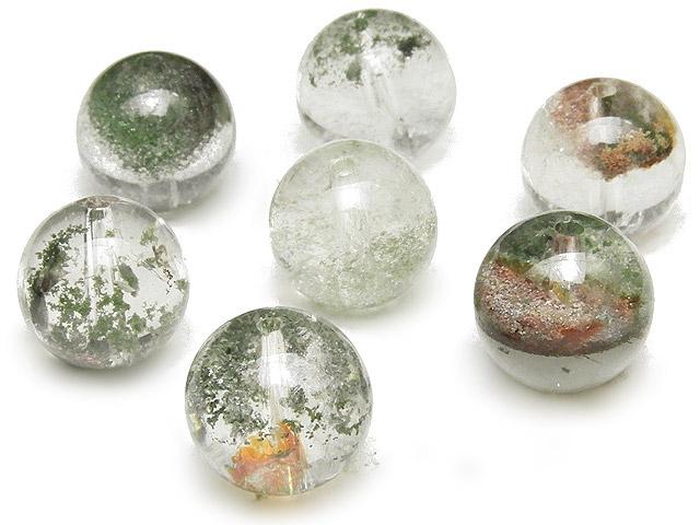 天然石【粒販売】ガーデンクォーツ 丸玉 10mm【4粒販売 480円】ビーズとパワーストーン