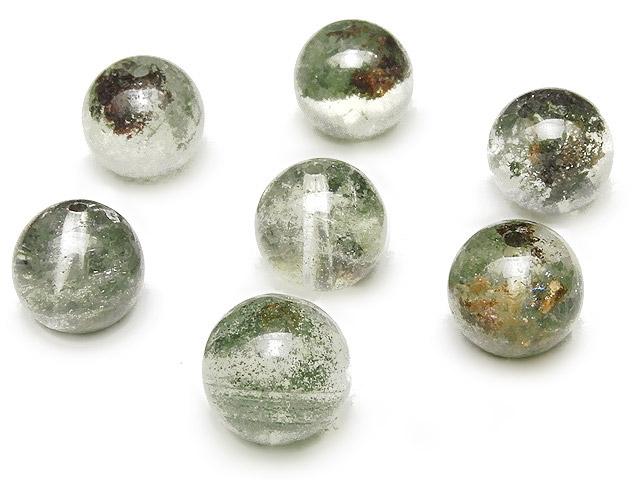 天然石【粒販売】ガーデンクォーツ 丸玉 9mm【5粒販売 450円】ビーズとパワーストーン