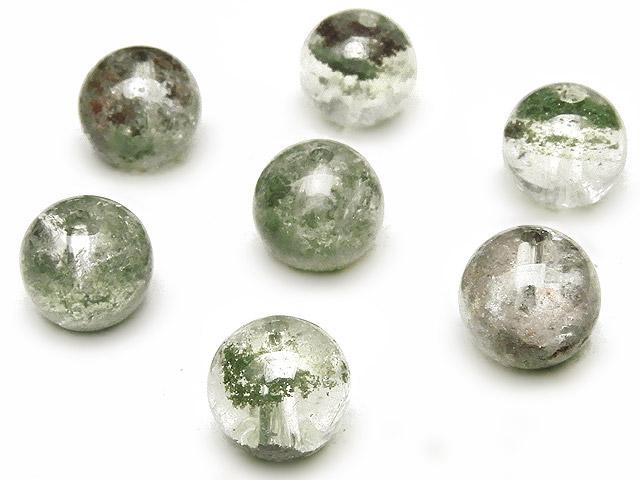 天然石【粒販売】ガーデンクォーツ 丸玉 8mm【6粒販売 420円】ビーズとパワーストーン