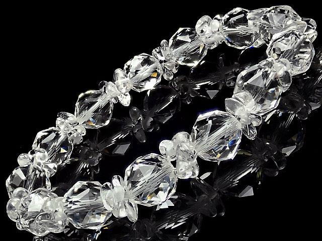 天然石【連販売】天然水晶 クリスタルクォーツ チップ+スターカット 丸玉ブレス 10mm【1コ販売 1,200円】ビーズとパワーストーン