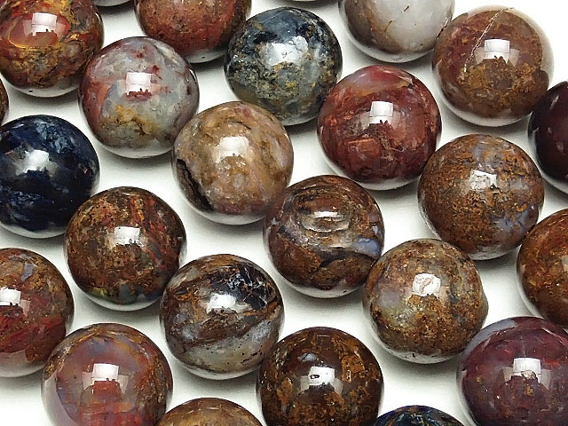 天然石【連販売】ピーターサイト 丸玉 10mm【1連 2,000円】ビーズとパワーストーン