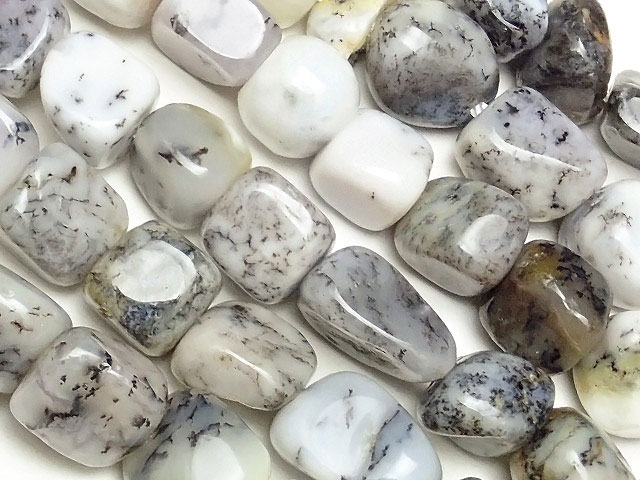 天然石【連販売】デンドライトオパール ナゲット 6〜15mm【1連 700円】ビーズとパワーストーン
