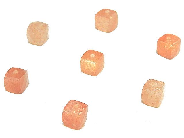 天然石【粒販売】タンザニア産 サンストーン キューブカット 3〜4mm【10粒販売 410円】ビーズとパワーストーン