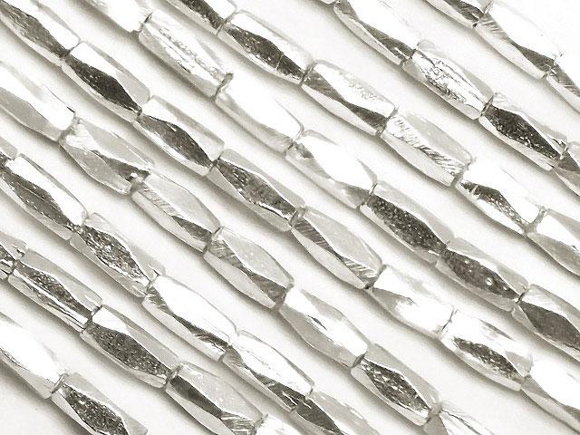 天然石【連販売】カレンシルバー チューブカット 2〜3mm[ロング連]【1連 3,800円】ビーズとパワーストーン