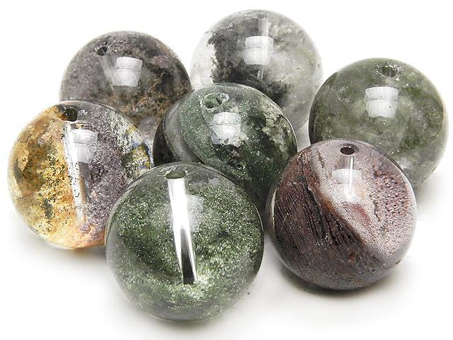 天然石【粒販売】ガーデンクォーツ 丸玉 18mm【2粒販売 890円】ビーズとパワーストーン