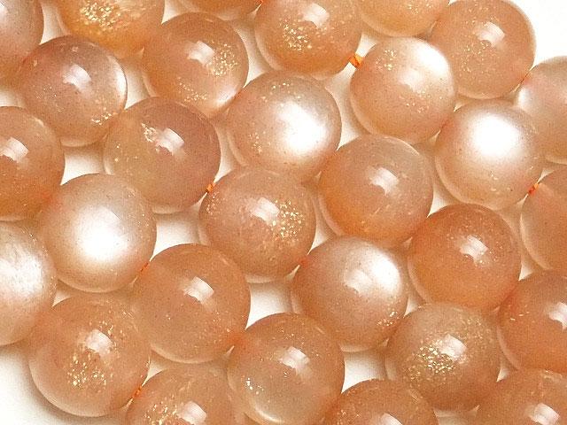 ビーズ天然石【連販売】オレンジムーンストーン 丸玉 8mm【1連 4,000円】とパワーストーン