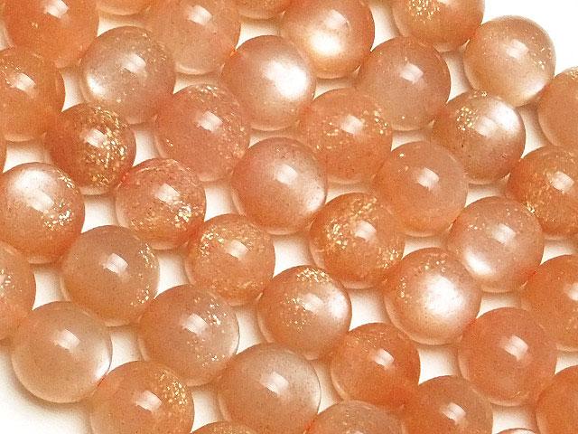 ビーズ天然石【連販売】オレンジムーンストーン 丸玉 6mm【1連 3,000円】とパワーストーン