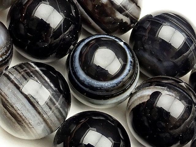天然石【連販売】天眼石(チベットアゲート) 丸玉 18mm【1連 2,600円】ビーズとパワーストーン