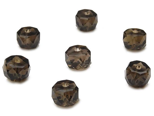 ビーズ天然石【粒販売】スモーキークォーツ ボタンカット 6×4mm[プレミアムカット]【8粒販売 480円】とパワーストーン