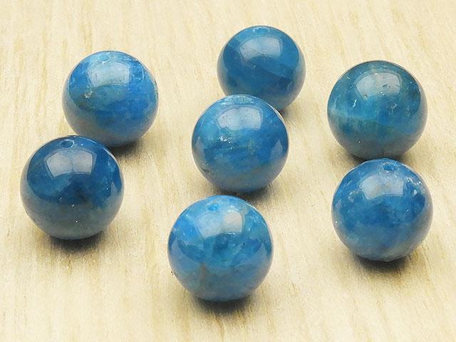 天然石【粒販売】ブラジル産 ブルーアパタイト 丸玉 10mm【3粒販売 990円】ビーズとパワーストーン