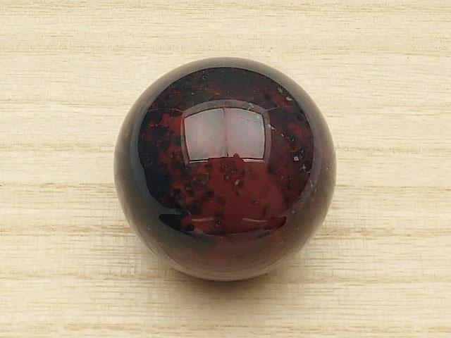 天然石ブラッドストーン スフィア 40mm【1コ販売 1,200円】ビーズとパワーストーン