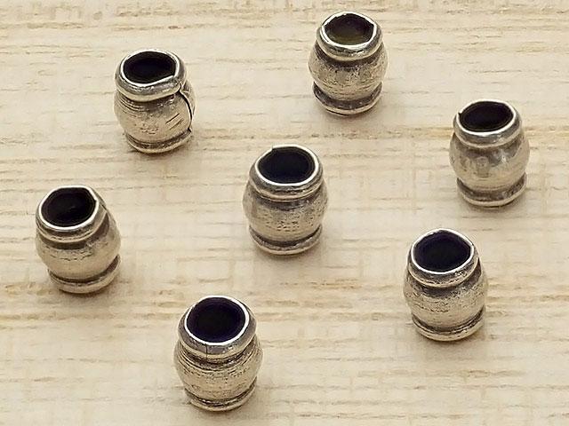 ビーズ天然石カレンシルバー デザインビーズ 4×3mm【10コ販売 390円】とパワーストーン