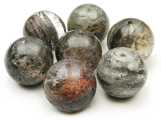 天然石【粒販売】ガーデンクォーツ 丸玉 15mm【4粒販売 720円】ビーズとパワーストーン