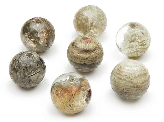 天然石【粒販売】クラウディガーデンクォーツ 丸玉 10mm【5粒販売 400円】ビーズとパワーストーン