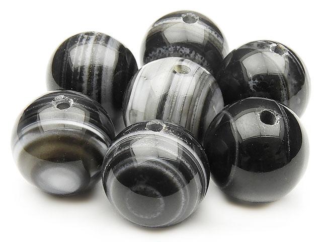 天然石【粒販売】天眼石(チベットアゲート) 丸玉 16mm【4粒販売 520円】ビーズとパワーストーン