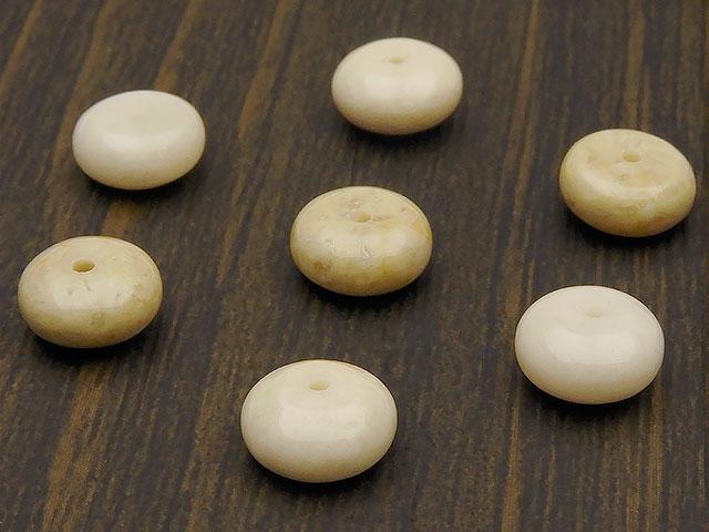 天然石【粒販売】リバーストーン ロンデル 8×4mm【12粒販売 420円】ビーズとパワーストーン