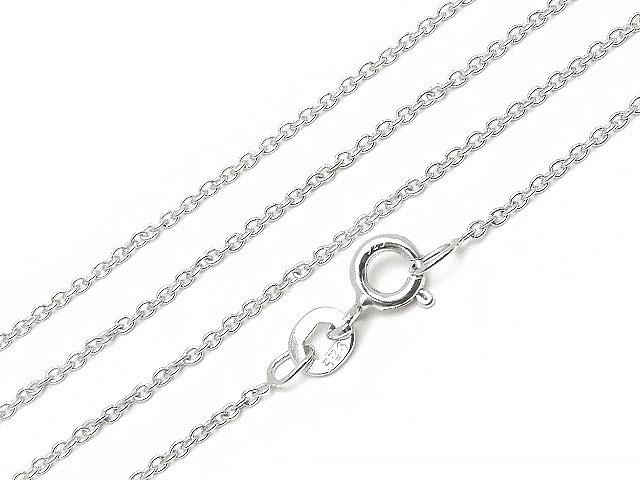 ビーズ天然石SILVER925 ネックレス あずきチェーン 1.1mm 40cm[純銀]【1コ販売 300円】とパワーストーン