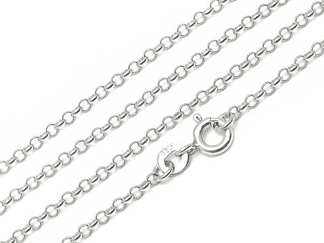 天然石SILVER925 ネックレス ロロチェーン 2.0mm 40cm[純銀]【1コ販売 540円】ビーズとパワーストーン