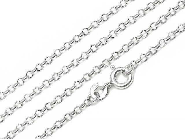 ビーズ天然石SILVER925 ネックレス ロロチェーン 2.0mm 45cm[純銀]【1コ販売 600円】とパワーストーン