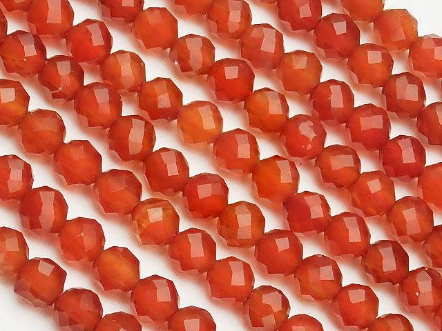 天然石【連販売】レッドアゲート 面カット 丸玉 3mm[プレミアムカット]【1連 600円】ビーズとパワーストーン