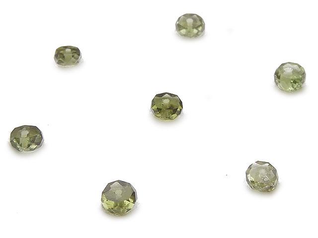 天然石【粒販売】チェコ産 モルダバイト ボタンカット 3〜4mm【6粒販売 1,020円】ビーズとパワーストーン