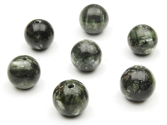 天然石【粒販売】セラフィナイト 丸玉 8mm【4粒販売 960円】ビーズとパワーストーン
