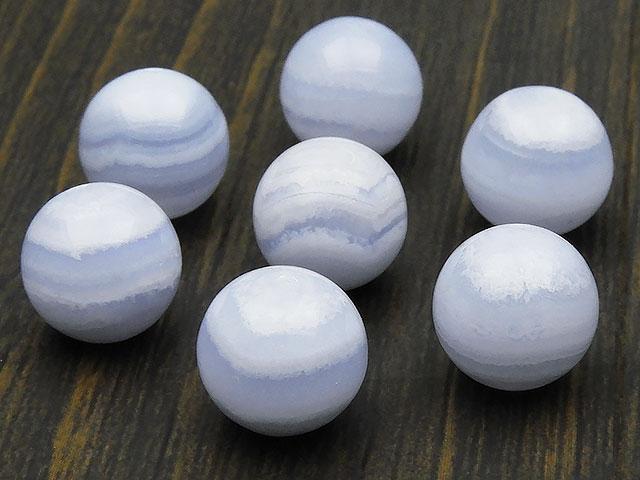 天然石【粒販売】ブルーレースカルセドニー 丸玉 10mm【4粒販売 520円】ビーズとパワーストーン