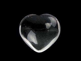 天然石【粒販売】天然水晶 クリスタルクォーツ ハート[穴なし]40mm【1コ販売 1,400円】ビーズとパワーストーン