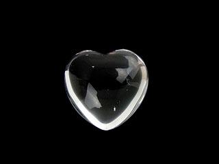 天然石【粒販売】天然水晶 クリスタルクォーツ ハート[穴なし]25mm【1コ販売 800円】ビーズとパワーストーン